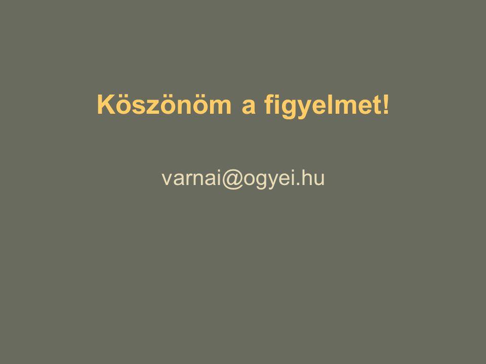 Köszönöm a figyelmet! varnai@ogyei.hu