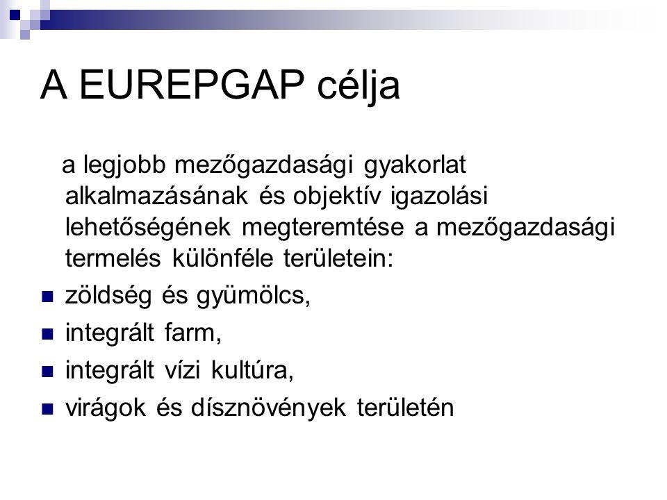 A EUREPGAP célja a legjobb mezőgazdasági gyakorlat alkalmazásának és objektív igazolási lehetőségének megteremtése a mezőgazdasági termelés különféle