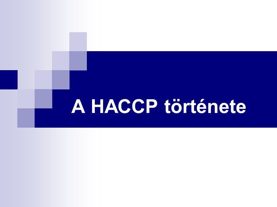 A HACCP története