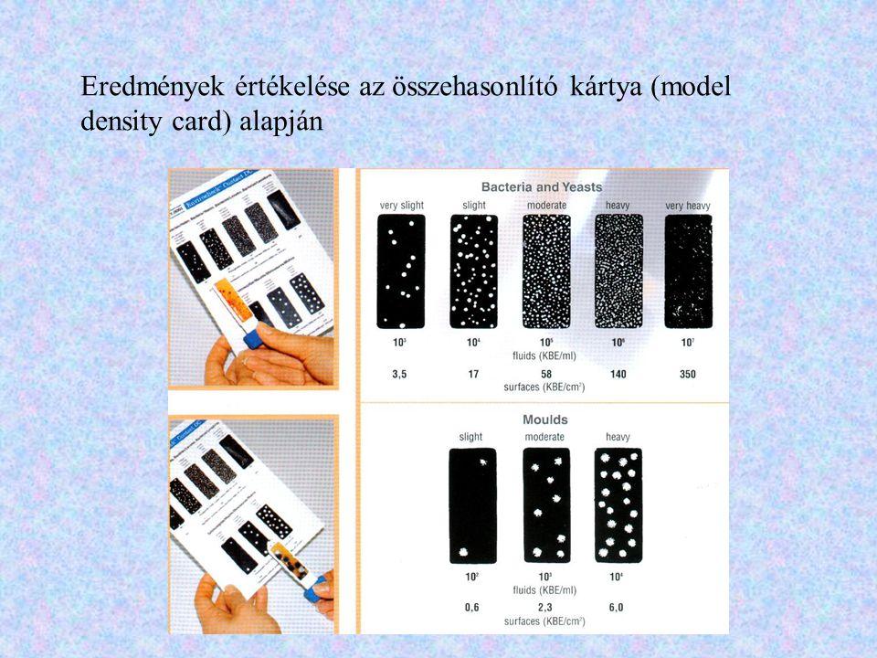 Eredmények értékelése az összehasonlító kártya (model density card) alapján