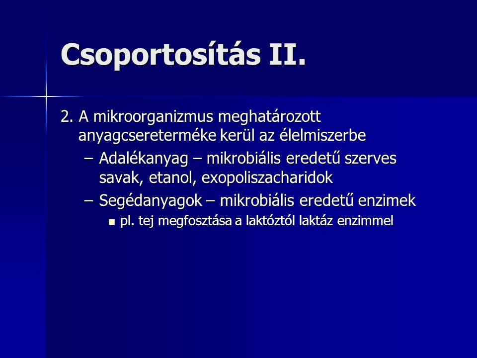 Csoportosítás II.2.
