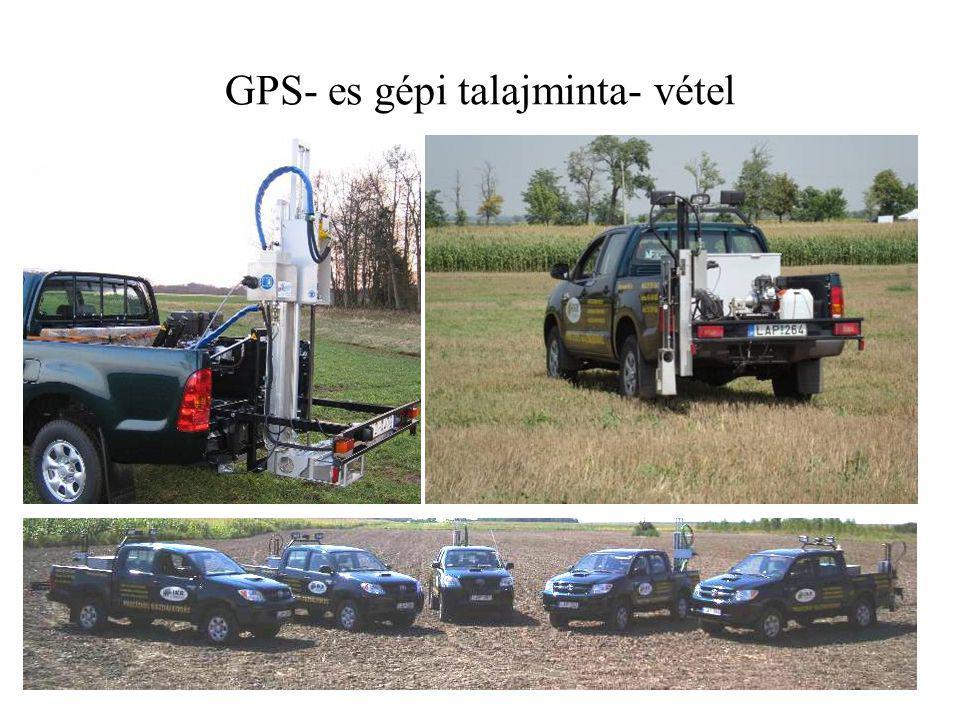 GPS- es gépi talajminta- vétel