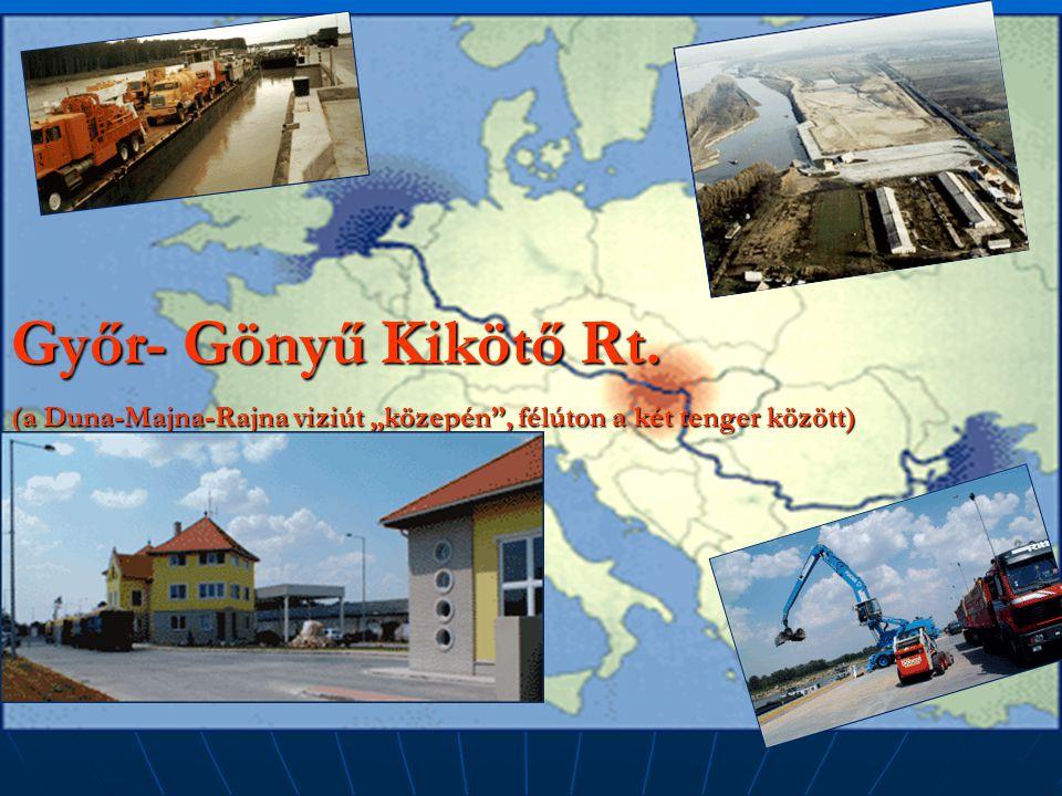 """Győr- Gönyű Kikötő Rt. (a Duna-Majna-Rajna viziút """"közepén"""", félúton a két tenger között)"""