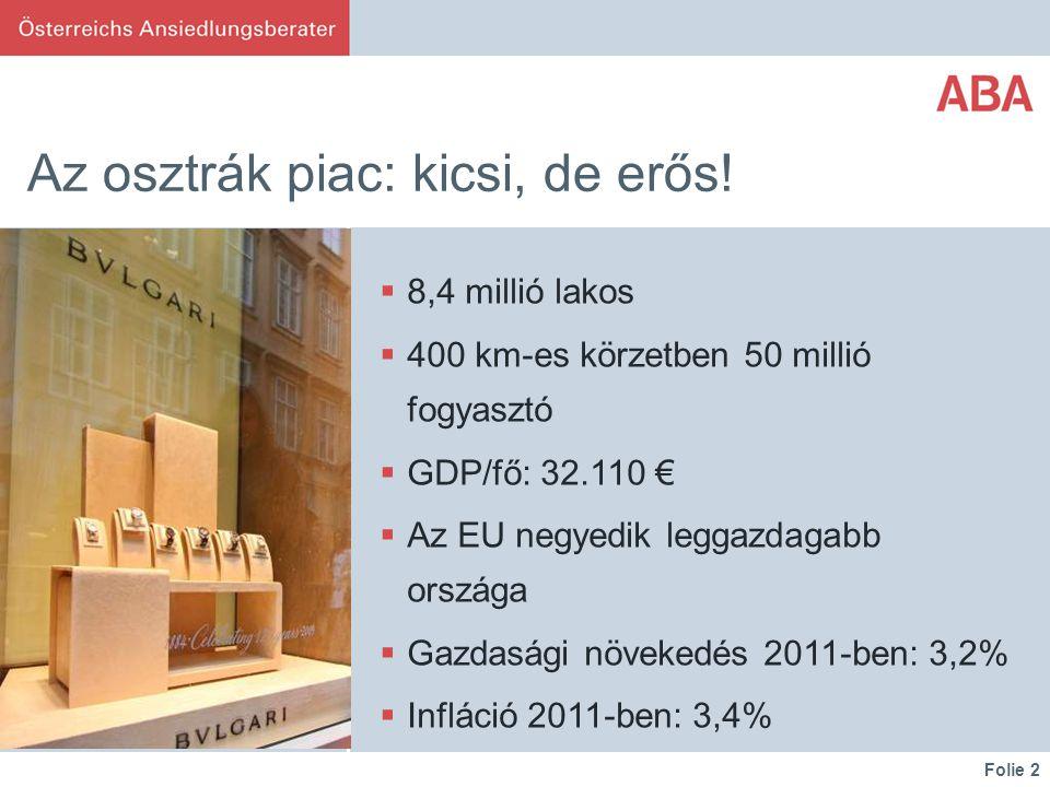 Folie 2 Az osztrák piac: kicsi, de erős.