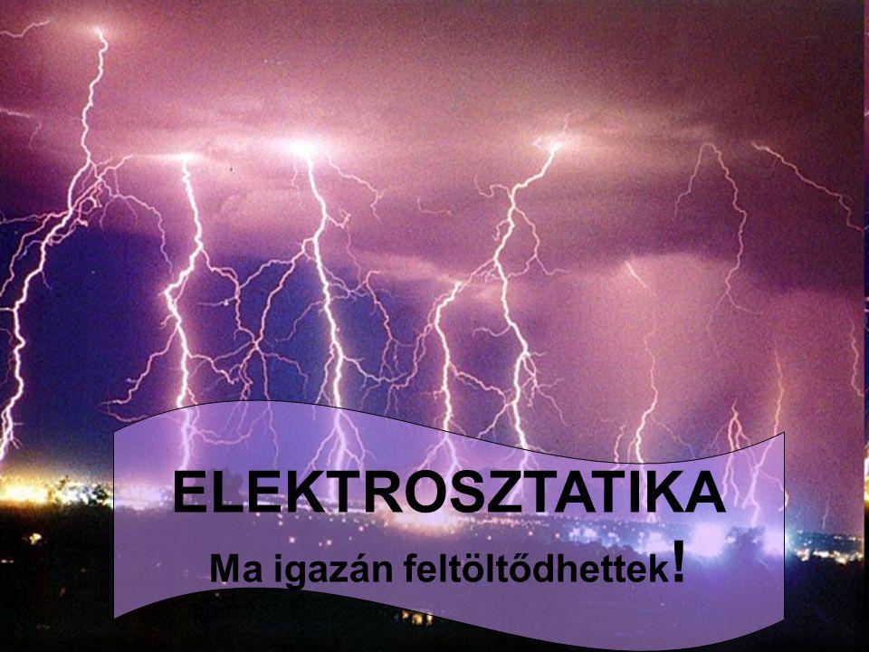 Elektrosztatikai alapismeretek THALÉSZ: a borostyánt (élektron) megdörzsölve az a könnyebb testeket magához vonzza.