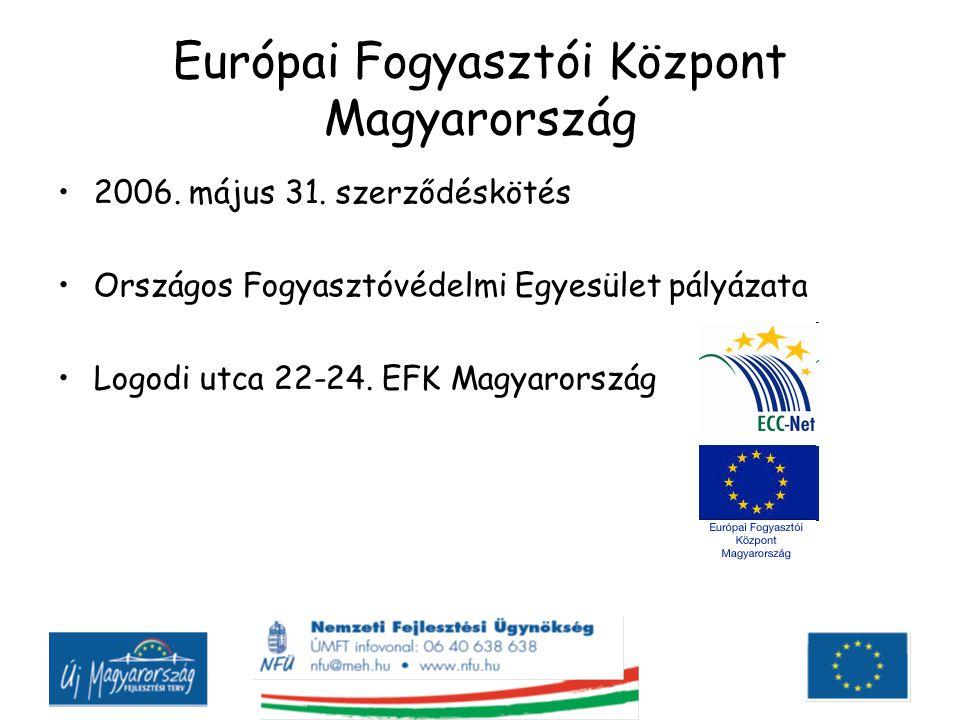 Feladatai fogyasztói tájékoztatás a hazai és uniós fogyasztóvédelmi rendelkezésekről információnyújtás, tanácsadás, segítségnyújtás határon átnyúló probléma esetére segítségnyújtás a fogyasztóknak kerekedőkkel, szolgáltatókkal történő egyezség, megállapodás létrehozásában a határon átnyúló fogyasztói jogvitában elvégzi az igényérvényesítéshez szükséges fordítási feladatokat szükség szerint továbbítja a fogyasztói panaszt a hatáskörrel és illetékességgel rendelkező alternatív vitarendezési fórumhoz szükség szerint továbbítja a fogyasztói panaszt az illetékes tagország Európai Fogyasztói Központja felé részt vesz a fogyasztóvédelmi politika fejlesztésében nemzetközi és EU-s szinten