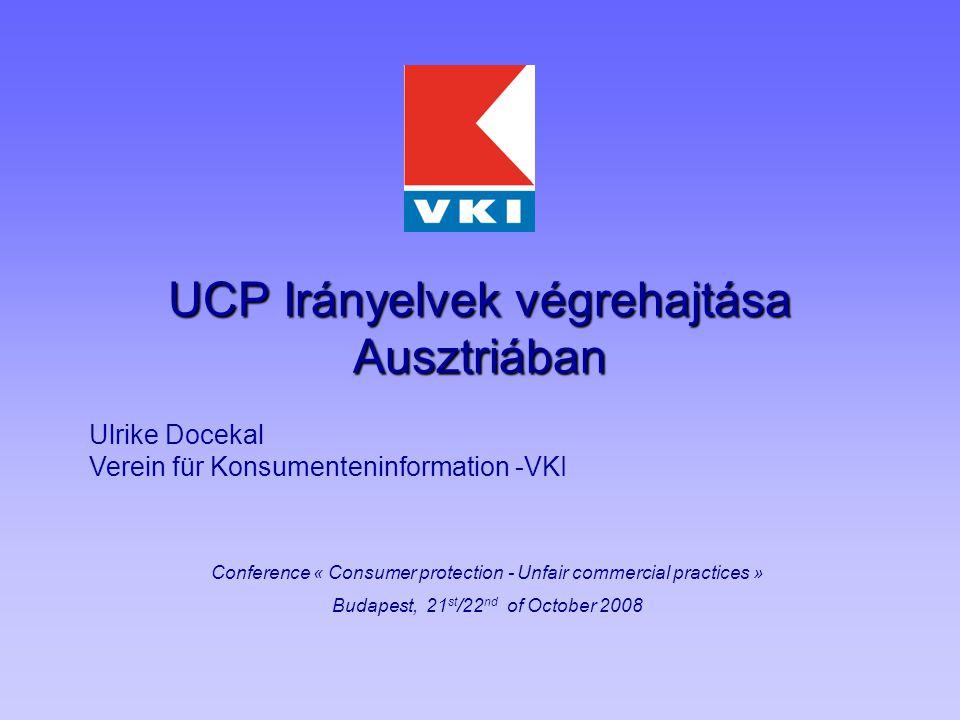 """2 Áttekintés Jogi helyzet az UCP előtt – Irányelv 2005/29 Törvény a Tisztességtelen Versenyről 1923 UCP okozta változások UCP – Irányelv A létező törvény csekély módosítása Példák a """"Case Law -ra Középpontban a fogyasztókat érintő esetek Mellékletben említett gyakorlatok Félrevezető reklám Következtetések Mit lehetne fejleszteni"""