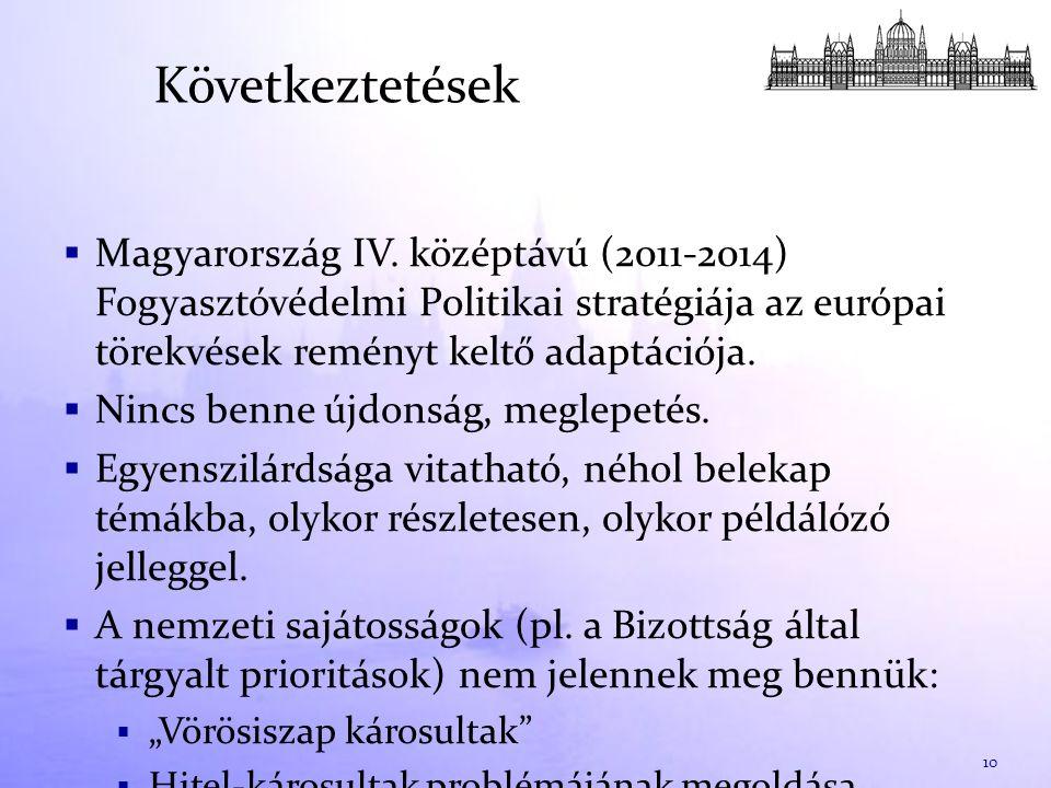 Következtetések  Magyarország IV.