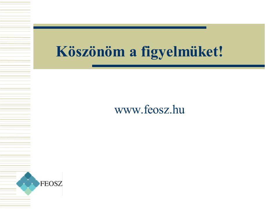 Köszönöm a figyelmüket! www.feosz.hu