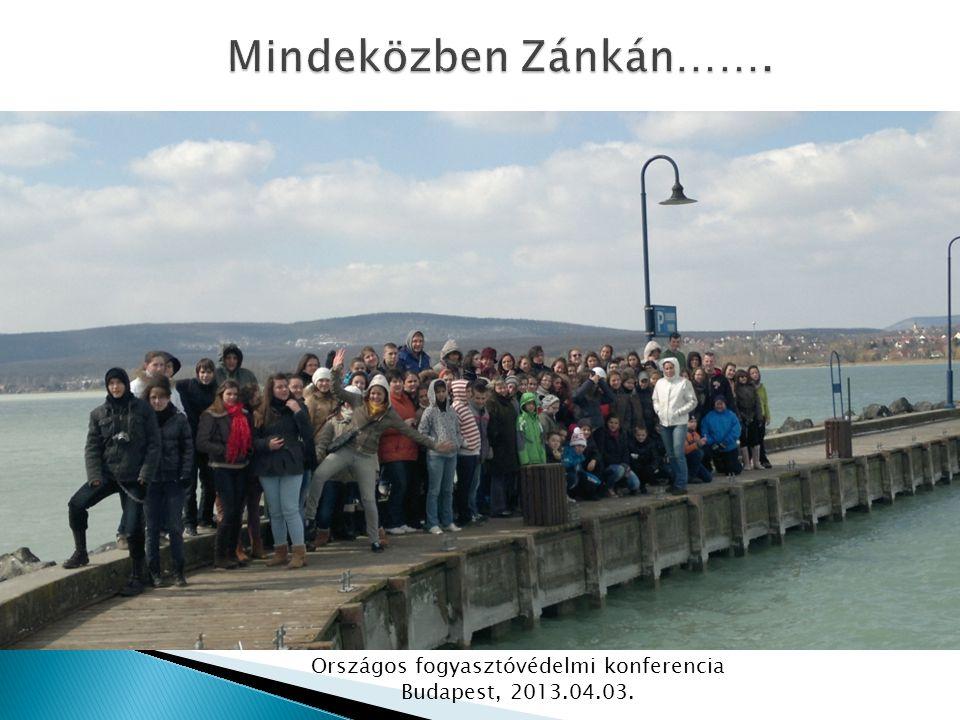 Országos fogyasztóvédelmi konferencia Budapest, 2013.04.03.