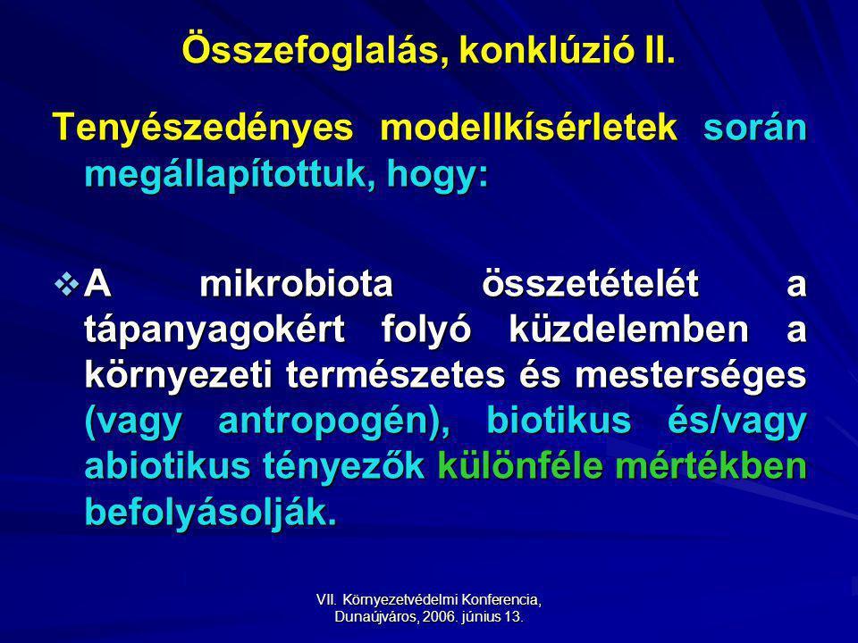 VII. Környezetvédelmi Konferencia, Dunaújváros, 2006.
