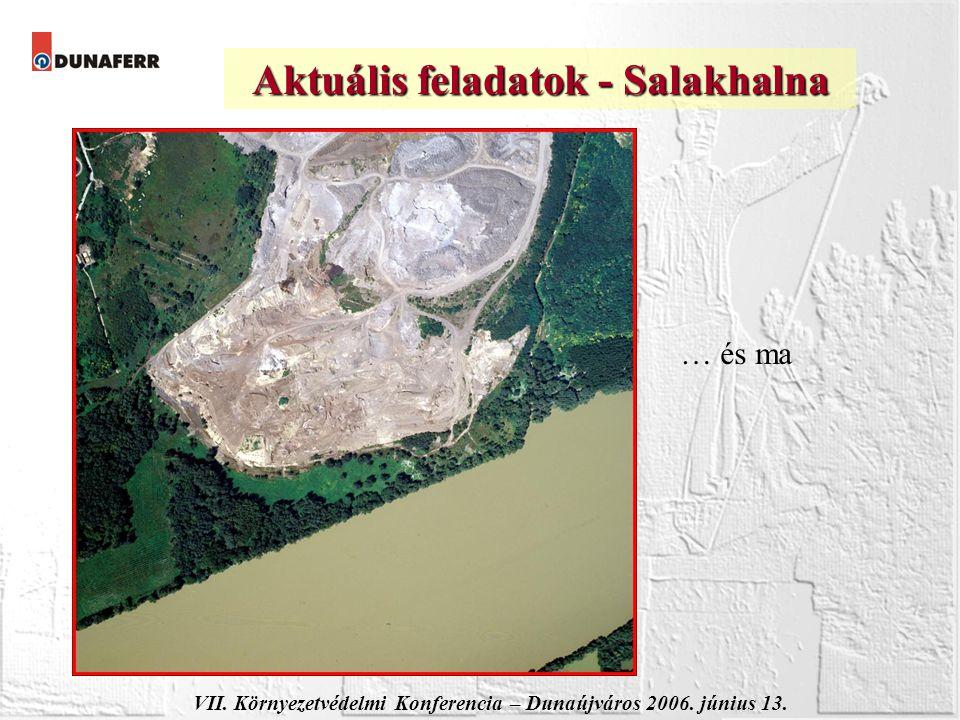 VII. Környezetvédelmi Konferencia – Dunaújváros 2006. június 13. Aktuális feladatok - Salakhalna … és ma