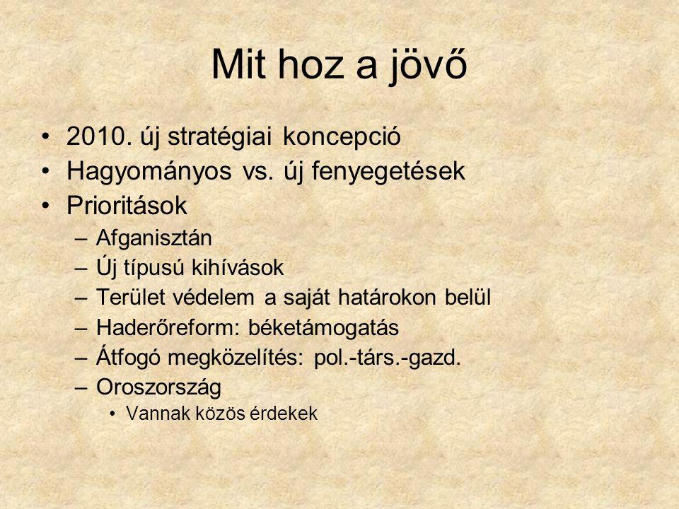 Mit hoz a jövő 2010. új stratégiai koncepció Hagyományos vs.