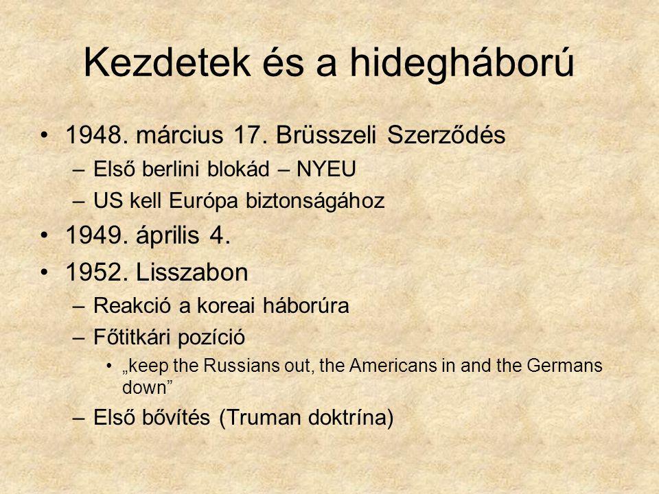 Kezdetek és a hidegháború 1948. március 17.