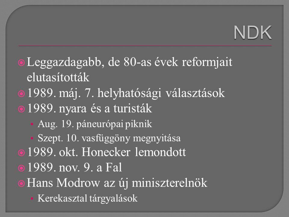  Leggazdagabb, de 80-as évek reformjait elutasították  1989.