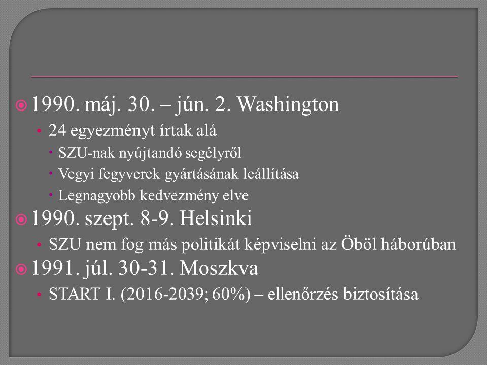  Jún.választások Oo-ban - Jelcin  Júl. Orosz KP is elhagyta az SZKP-t  Aug.