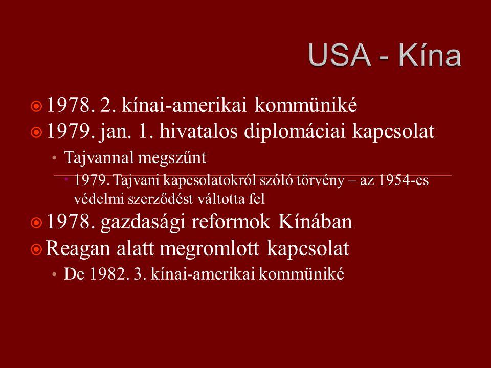  1978. 2. kínai-amerikai kommüniké  1979. jan.