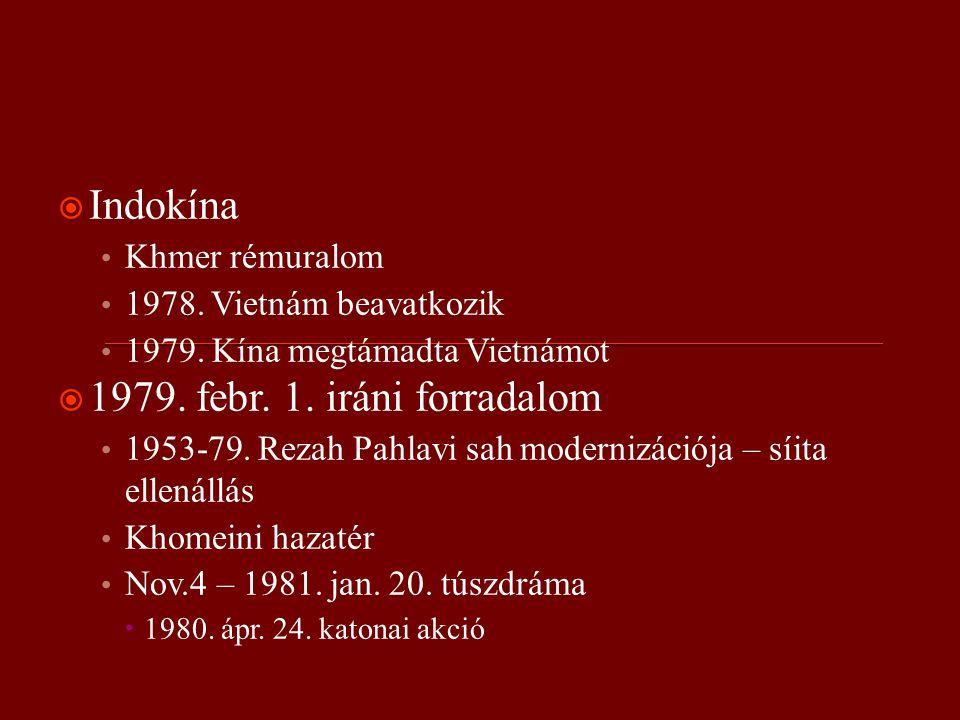  Indokína Khmer rémuralom 1978. Vietnám beavatkozik 1979.