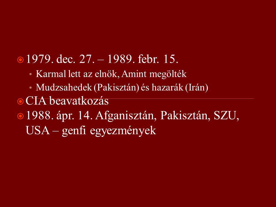  1979. dec. 27. – 1989. febr. 15.