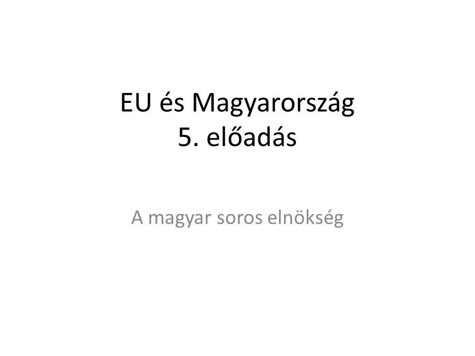 EU és Magyarország 5. előadás A magyar soros elnökség