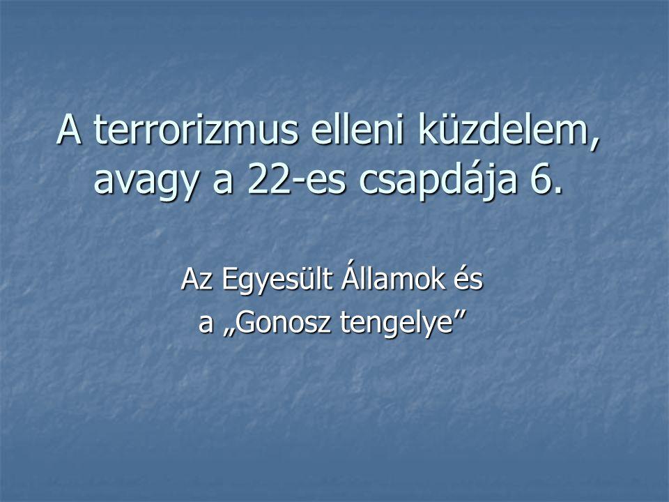 """A terrorizmus elleni küzdelem, avagy a 22-es csapdája 6. Az Egyesült Államok és a """"Gonosz tengelye"""""""