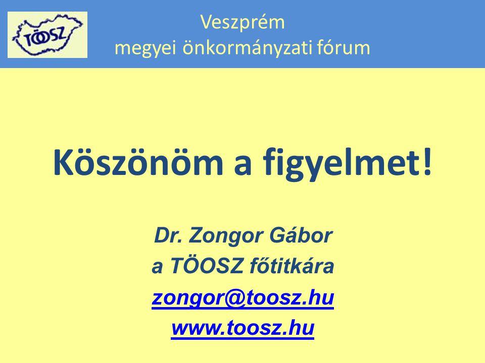 Veszprém megyei önkormányzati fórum Köszönöm a figyelmet.
