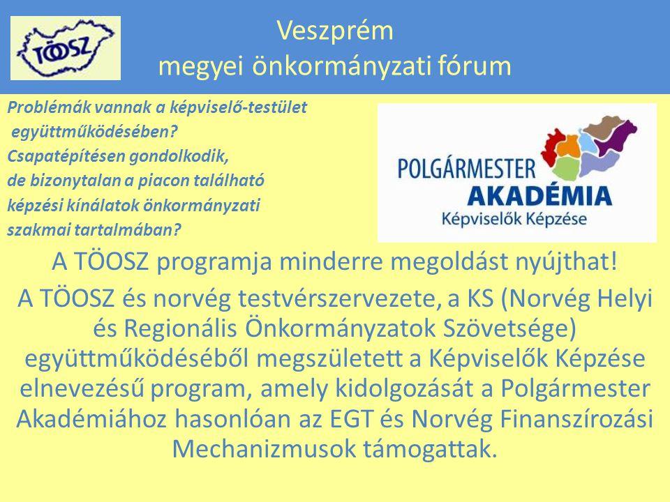 Veszprém megyei önkormányzati fórum Problémák vannak a képviselő-testület együttműködésében.