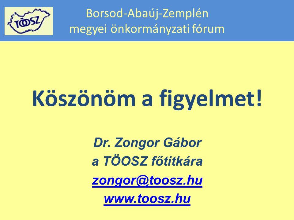 Borsod-Abaúj-Zemplén megyei önkormányzati fórum Köszönöm a figyelmet.