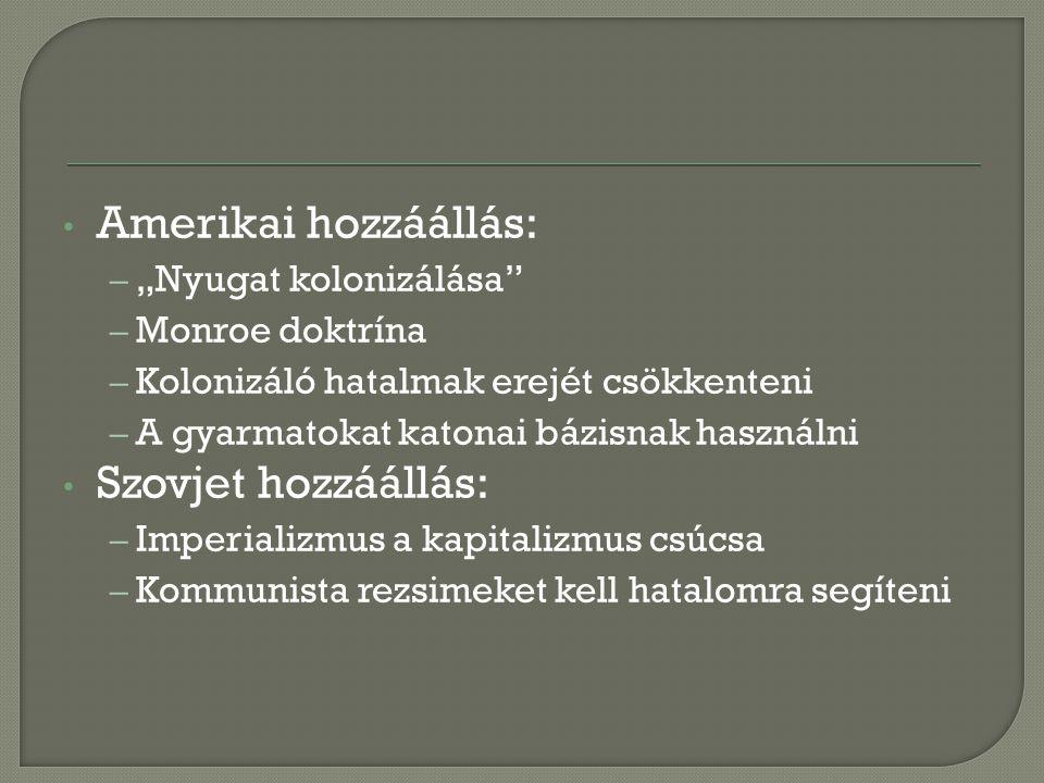 """ Gyarmatosítók gazdasági és geopolitikai érdekei Ny-Afrika ezért könnyebben szakadt el Rhodézia, Dél-Afrika nehezebben 1) Brit – Indirekt uralom, nincs egyenl ő ség 2) Francia – Direkt uralom, a """"francia út 3) Portugál – Nyelv és kultúra promótálása - diktatórikus 4) Belga – A fehérek is jogok nélkül"""