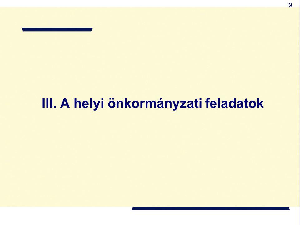 9 III. A helyi önkormányzati feladatok