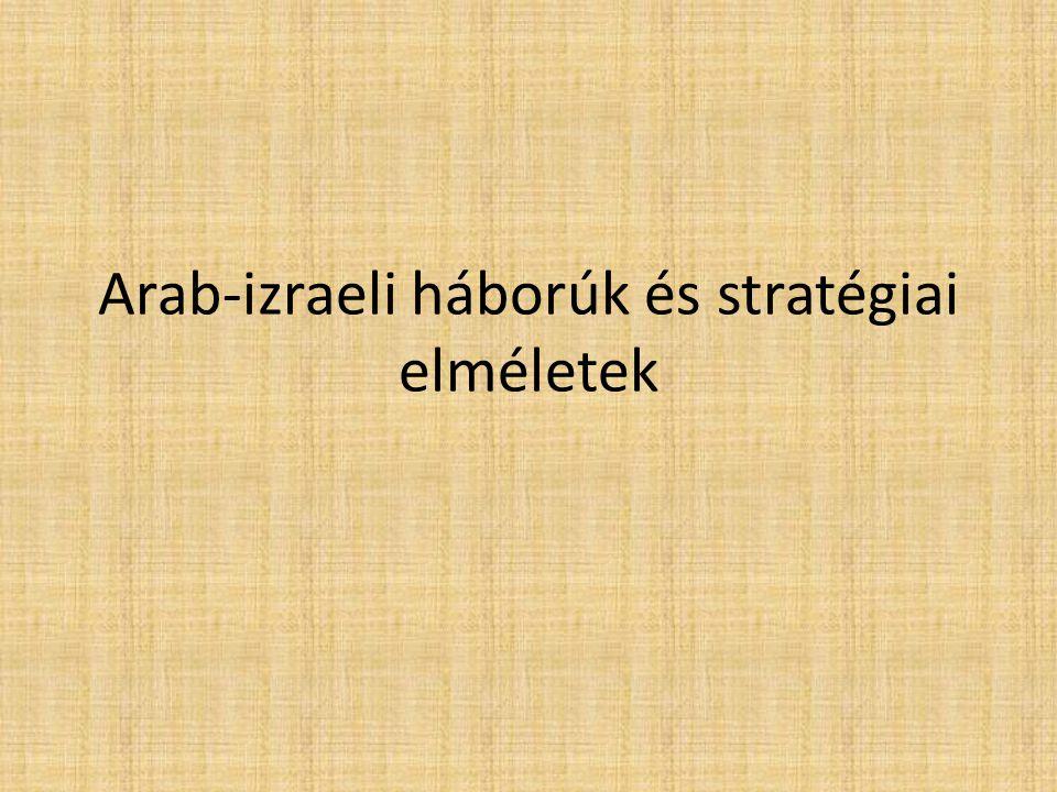Arab-izraeli háborúk és stratégiai elméletek