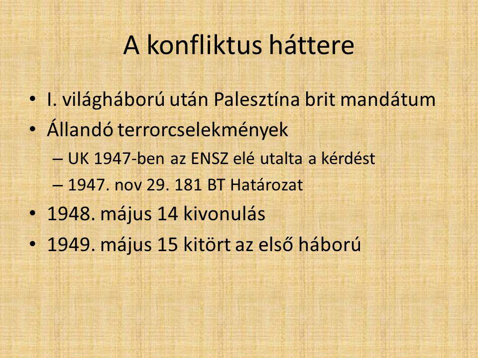 Az első arab-izraeli háború 1948.május 15. – 1949.