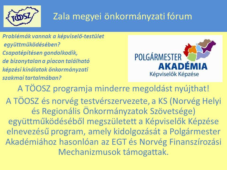 Zala megyei önkormányzati fórum Problémák vannak a képviselő-testület együttműködésében.