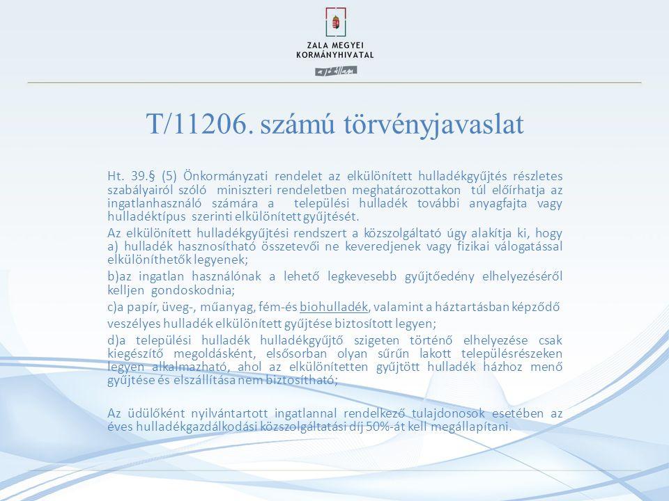 T/11206.számú törvényjavaslat Ht.