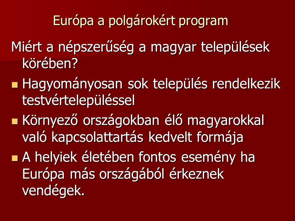 Miért a népszerűség a magyar települések körében.