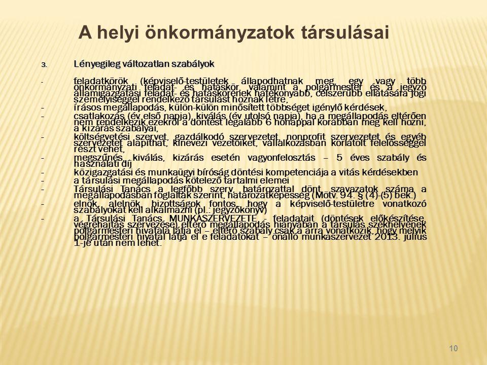 A helyi önkormányzatok társulásai 3.