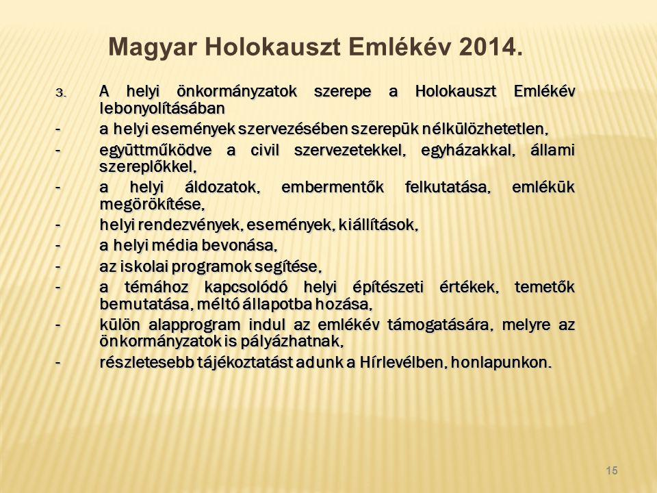 Magyar Holokauszt Emlékév 2014. 3.