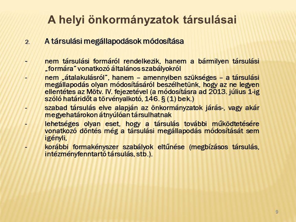 A helyi önkormányzatok társulásai 2.