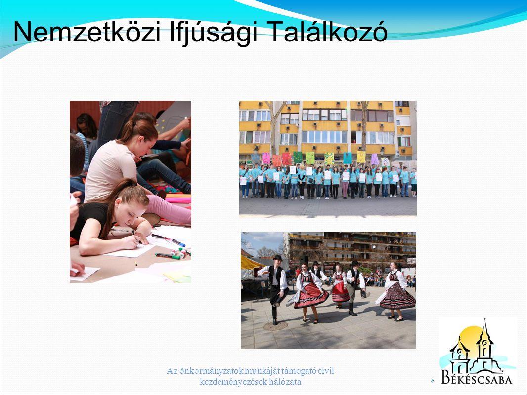 Nemzetközi Ifjúsági Találkozó * Az önkormányzatok munkáját támogató civil kezdeményezések hálózata