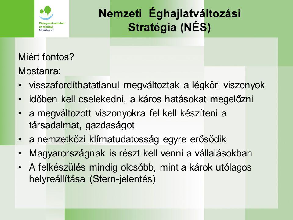Nemzeti Éghajlatváltozási Stratégia (NÉS) Miért fontos.