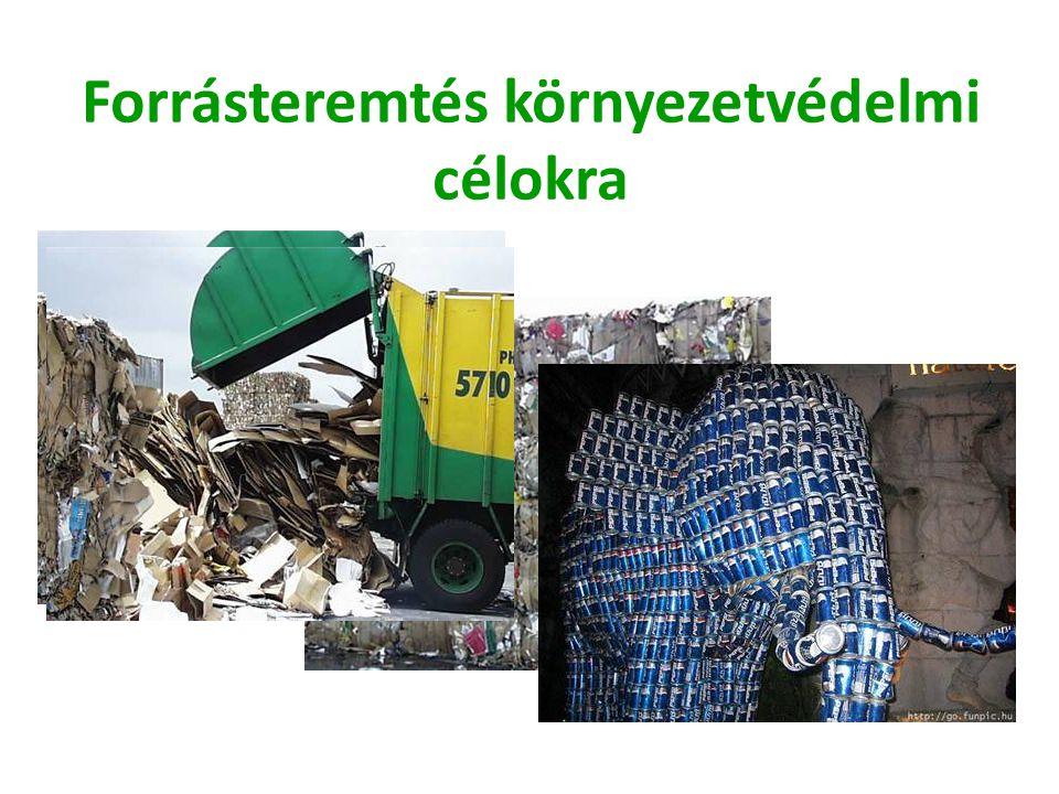 Forrásteremtés környezetvédelmi célokra