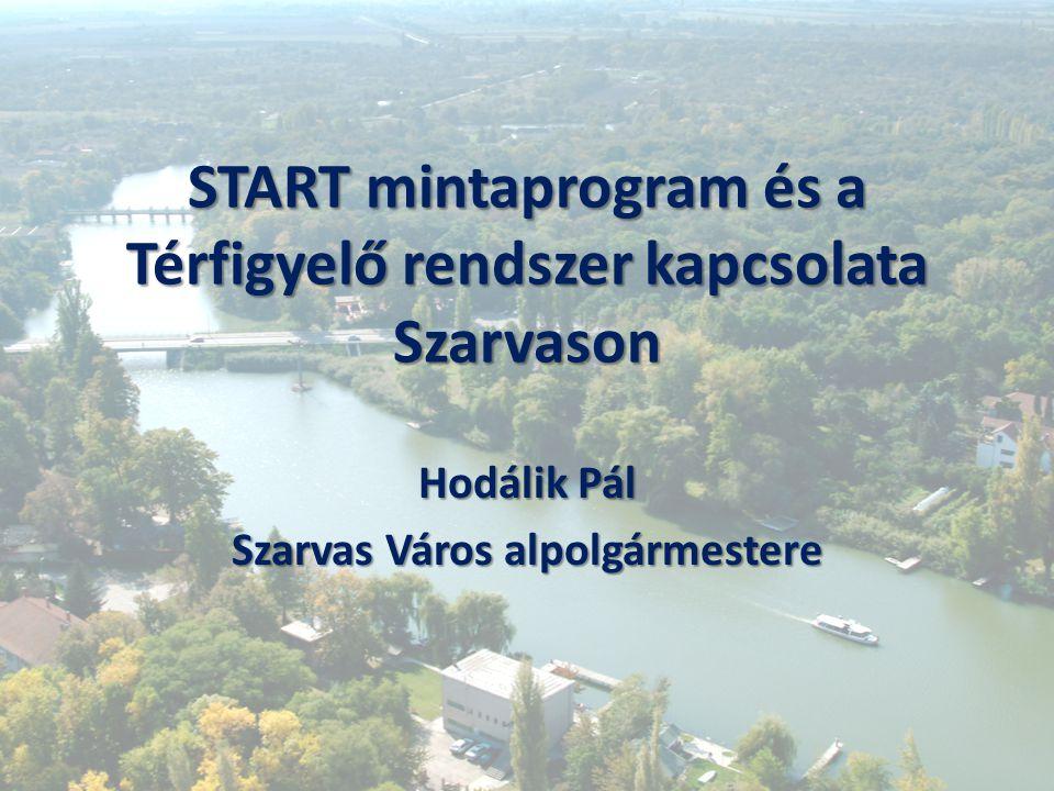 START mintaprogram és a Térfigyelő rendszer kapcsolata Szarvason Hodálik Pál Szarvas Város alpolgármestere