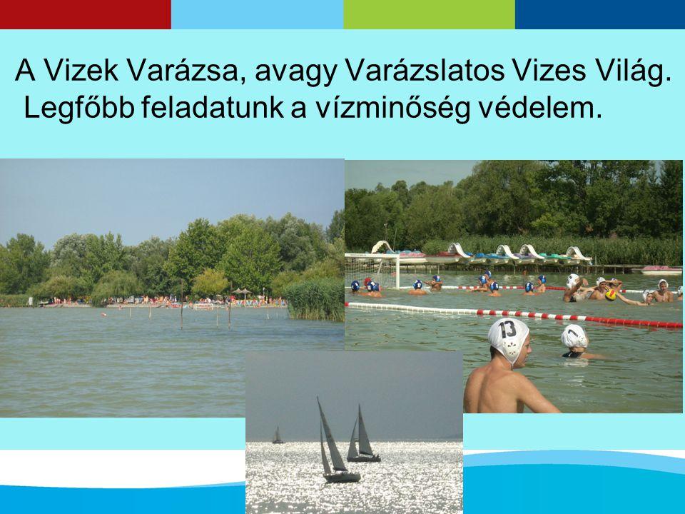 A Vizek Varázsa, avagy Varázslatos Vizes Világ. Legfőbb feladatunk a vízminőség védelem.