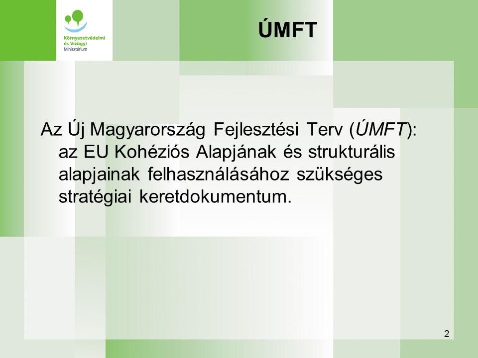 2 ÚMFT Az Új Magyarország Fejlesztési Terv (ÚMFT): az EU Kohéziós Alapjának és strukturális alapjainak felhasználásához szükséges stratégiai keretdoku