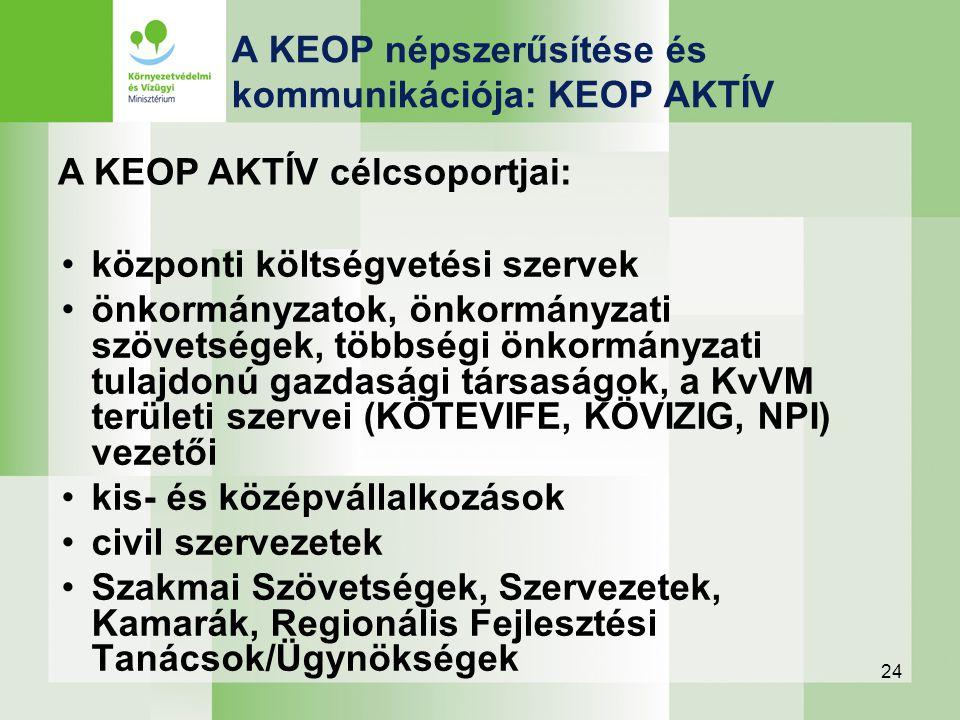 24 központi költségvetési szervek önkormányzatok, önkormányzati szövetségek, többségi önkormányzati tulajdonú gazdasági társaságok, a KvVM területi sz