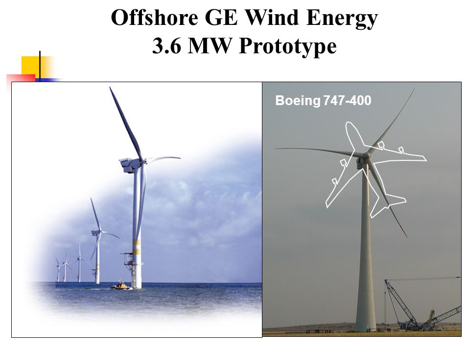 Offshore GE Wind Energy 3.6 MW Prototype Boeing 747-400