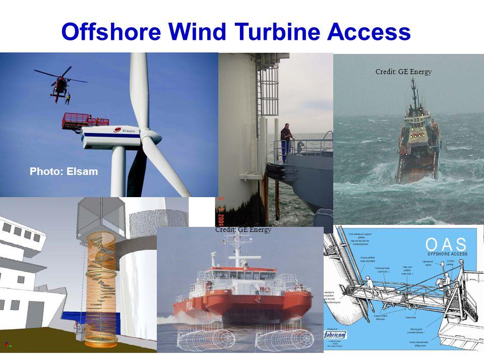 Offshore Wind Turbine Access Credit: GE Energy Photo: Elsam