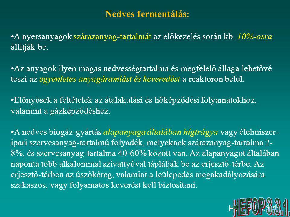 HEFOP 3.3.1. Nedves biogáz-eljárás folyamatábrája www.undp.hu