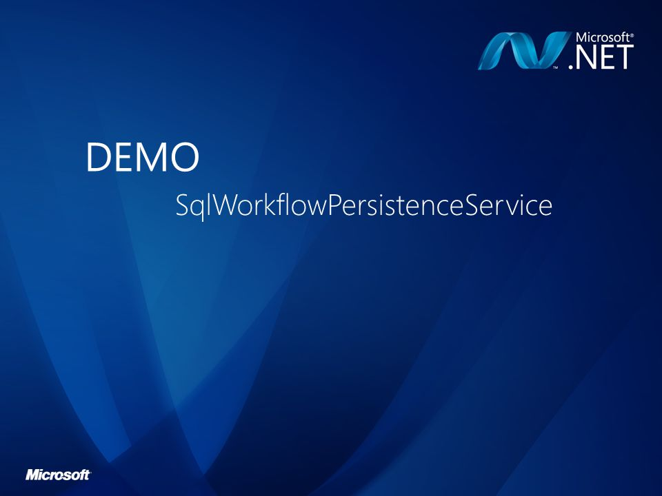 DEMO SqlWorkflowPersistenceService