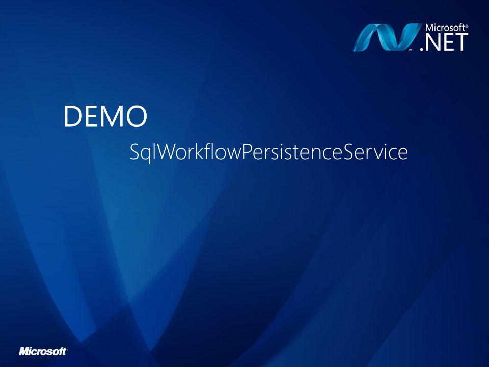 DEMO SqlWorkflowPersistenceService